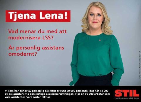 Tjena Lena! Vad menar du med att modernisera LSS. Är personlig assistans omodernt?